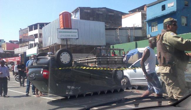 Acidente aconteceu por volta das 14h30, conforme a Transalvador - Foto: Thais Seixas | Ag. A TARDE
