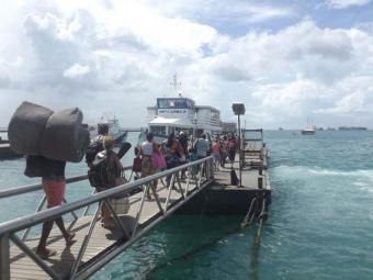 Embarque no Terminal Náutico, travessia Salvador-Mar Grande - Foto: Reprodução   Astramab
