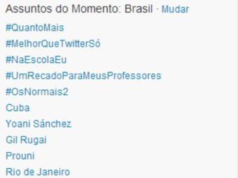 O nome da jornalista figura entre os dez assuntos mais comentados do Brasil - Foto: Reprodução   Twitter
