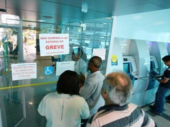 Bancos não abrem por conta da greve dos vigilantes - Foto: Marco Aurélio Martins   Ag. A TARDE