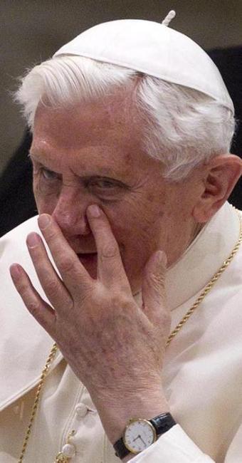 Na sua primeira aparição após renúncia, Papa manda mensagem para os brasileiros - Foto: Agência EFE