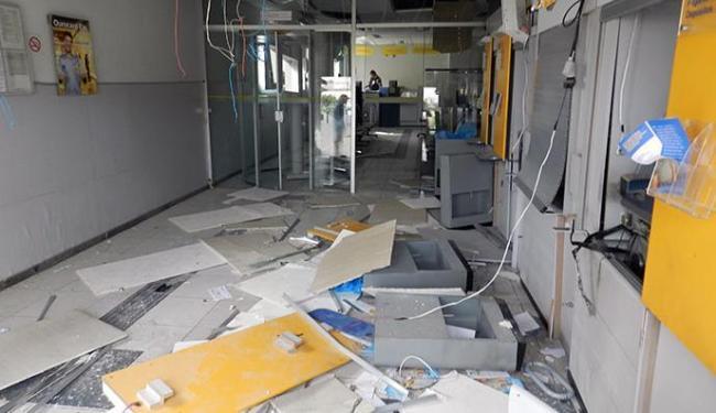 Agência do Banco do Brasil ficou destruída após a ação - Foto: Divulgação | Leitor