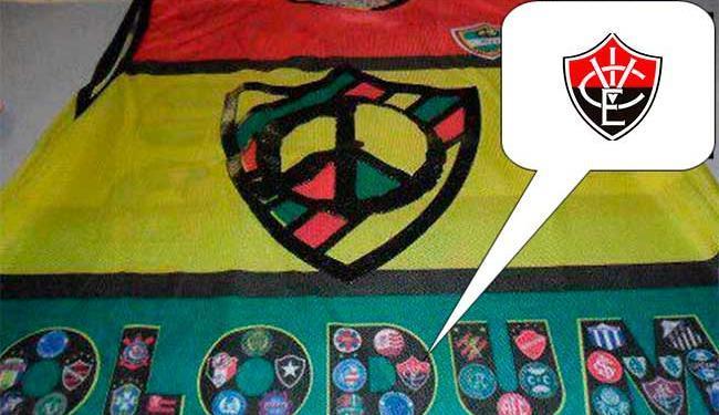 Escudo foi trocado por uma montagem que remete à brincadeira - Foto: Reprodução