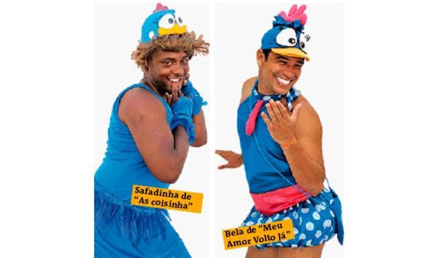 Travestidos querem a Galinha Pintadinha para desfilar na Barra - Foto: As Coisinha e Marcelo Reis / Divulgação