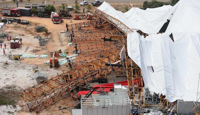 Estrutura serviria de palco para uma festa da empresa Bradesco - Foto: Rafael Martins   Agência Estado