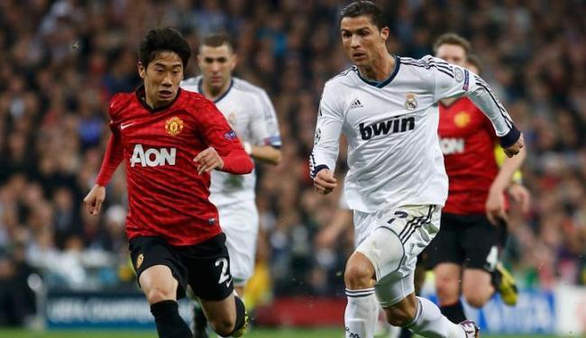 Ídolo das duas torcidas, Cristiano Ronaldo marcou, mas Real não saiu do 1 a 1 em contra o United - Foto: Paul Hanna / Agência Reuters