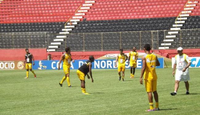 Os jogadores participaram de um treino recreativo na manhã deste sábado, 16 - Foto: Divulgação | ECV