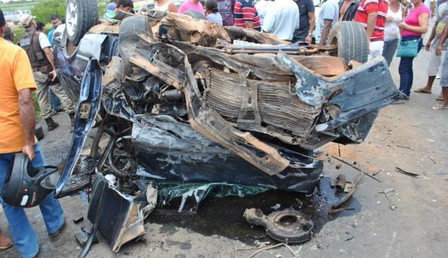 O acidente ocorreu nas imediações da cidade de João Dourado - Foto: Reprodução   Irecê Notícias