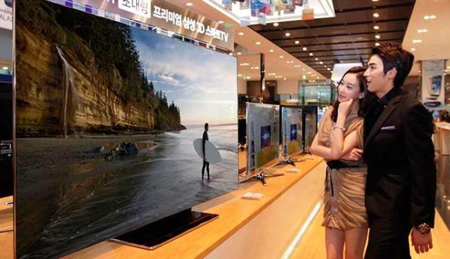 Televisão da Samsung vai ter até 75 polegadas - Foto: Divulgação