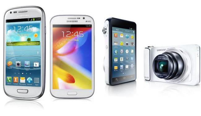 O SIII Mini, o Galaxy Gran Duos e o Galaxy Câmera são os novos produtos da Samsung - Foto: Divulgação