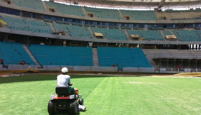 Arena Fonte, que será inaugurada em março: hospedagem cinco estrelas para ver futebol - Foto: Arena Fonte Nova | Divulgação