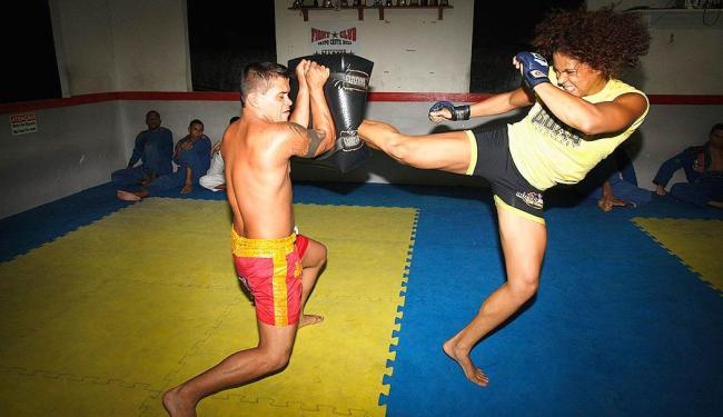 Amanda 'Leoa dos Ringues' é tida como revelação do esporte - Foto: Margarida Neide   Ag. A TARDE