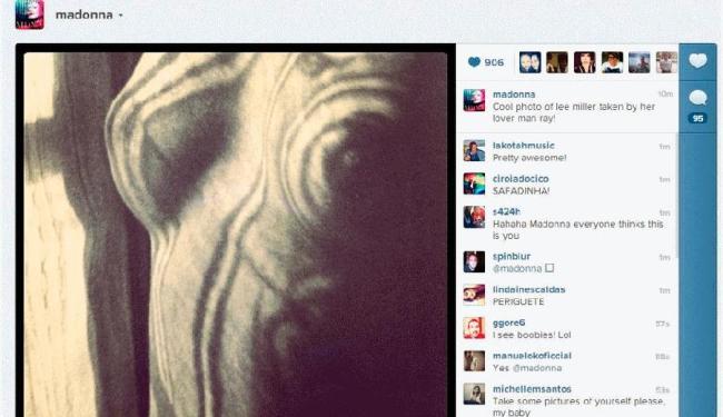 Madonna postou fotografia considerada imprópria por rede social - Foto: Reprodução | Instagram