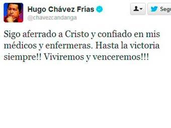 Em sua página no microblog Twitter, Chávez se mostrava confiante na sua recuperação - Foto: Twitter   Reprodução