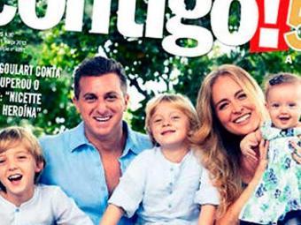 Angélica e Luciano Huck posaram em capa de revista com os três filhos - Foto: Reprodução | A TARDE