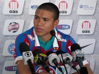 Marquinhos Gabriel poderá ser a grande novidade do Bahia para a partida contra a Juazeirense - Foto: Assessoria do Esporte Clube Bahia / Divulgação