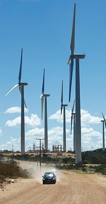 O parque eólico Alto Sertão I foi inaugurado no ano passado - Foto: Fernando Vivas | Ag. A TARDE