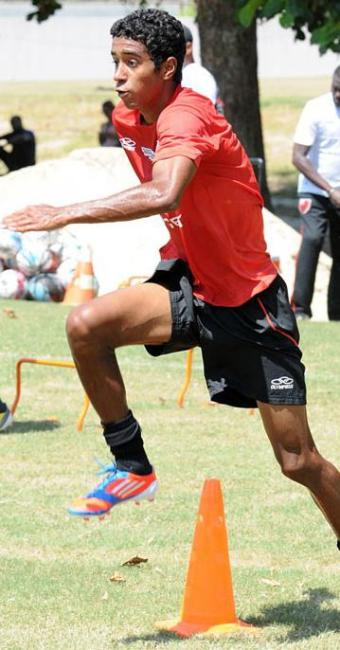 Gabriel marcou três gols na goleada sobre o Céres, que disputa a segunda divisão do Carioca - Foto: Site Oficial do Flamengo / Divulgação