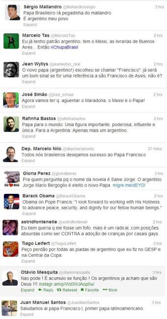Famosos e políticos fazem críticas e piadas com o papa argentino - Foto: Reprodução | Twitter