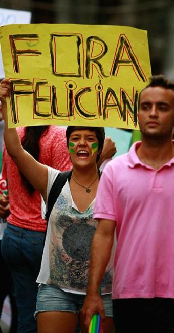 Soteropolitanos também protestaram contra Feliciano no começo de março - Foto: Fernando Vivas | Ag. A TARDE