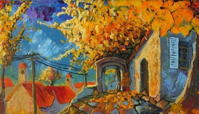 Maioria dass pinturas do artista é composta por paisagens - Foto: Divulgação