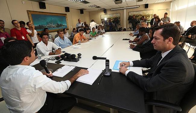 ACM Neto durante entrevista coletiva no Palácio Thomé de Souza - Foto: Margarida Neide   Ag. A TARDE