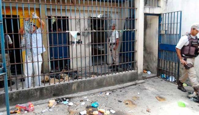 Rebeladas destroem celas da cadeia - Foto: Divulgação | PM