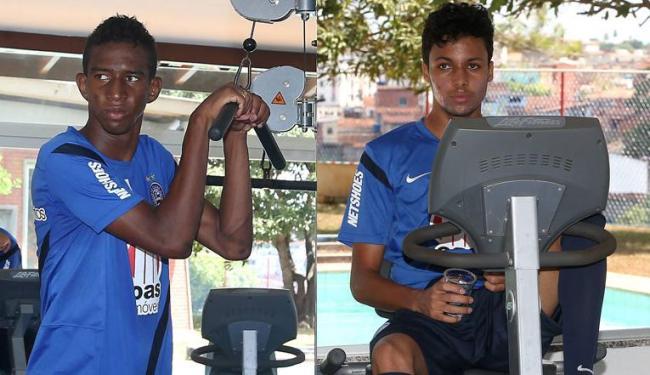 Após trabalho de ganho muscular, garotos da base estão à disposição do técnico - Foto: Montagem: Eduardo Martins e Fernando Amorim / Ag. A TARDE