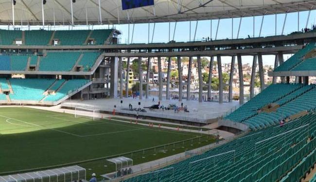 Assentos provisórios de R$ 11 milhões será colocada na área aberta da 'ferradura', do lado do Dique - Foto: Erik Salles / Ag. BAPRESS / Divulgação