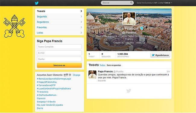 Mensagem foi publicada nos nove idiomas com os quais o perfil conta, entre eles o português - Foto: Reprodução