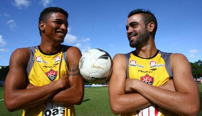 Alan Pinheiro (esq.) e Gabriel Soares são os únicos da Copa do Brasil sub-20 que estão no elenco - Foto: Fernando Amorim / Ag. A Tarde