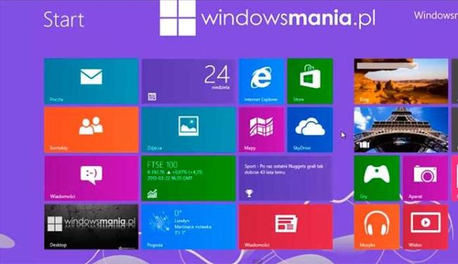 Sistema operacional tem o mesmo layout do Windows 8 - Foto: Divulgação