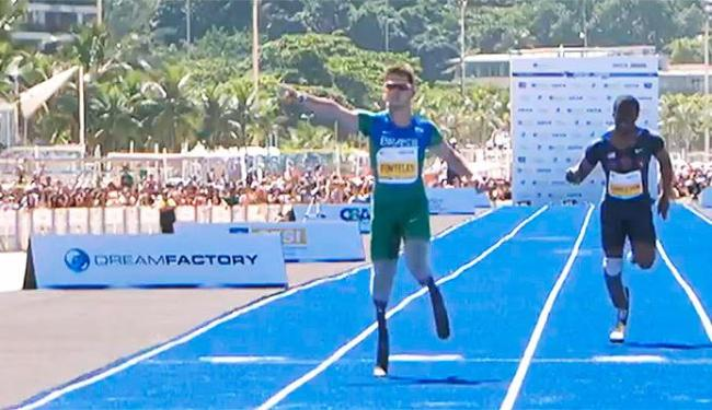 Brasileiro ganhou o ouro no T44 nos Jogos Paralímpicos de Londres e bateu recorde mundial - Foto: Reprodução
