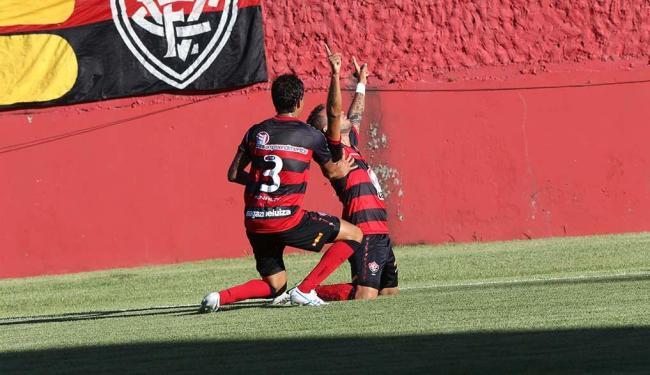 Luís Alberto comemora o primeiro gol na goleada do Leão sobre o Feirense - Foto: Margarida Neide | Ag. A TARDE