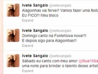 Ivete se antecipa à organização da Arena e confirma participação na inauguração da nova Fonte - Foto: Twitter de Ivete Sangalo | Reprodução