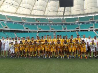 Jogadores e membros da comissão técnica do Vitória visitam e aprovam estrutura da nova Fonte - Foto: Esporte Clube Vitória | Divulgação