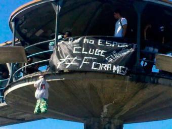 Torcedores pedem saída do presidente Marcelo Guimarães Filho - Foto: Foto do leitor | Divulgação