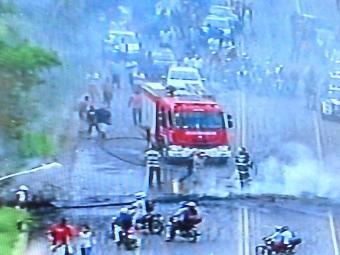 Moradores da Boca da Mata de Valéria fecharam dois pontos da via - Foto: Reprodução | TV Record