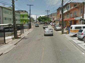 Vista da Rua Silveira Martins, onde ocorreu o assalto - Foto: Reprodução | Google Earth