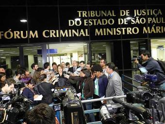 Advogada de Defesa, Ieda Ribeiro Souza, fala à imprensa após condenação dos 23 policiais - Foto: Maurício Camargo | Brazil Photo Press | Estadão Conteúdo