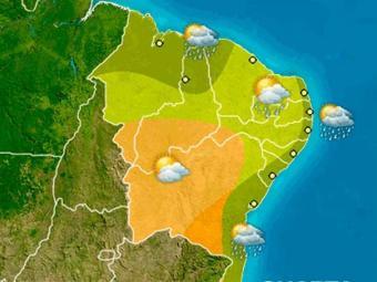 N quarta, previsão é de chuva com aberturas de sol no litoral baiano - Foto: Reprodução   Climatempo