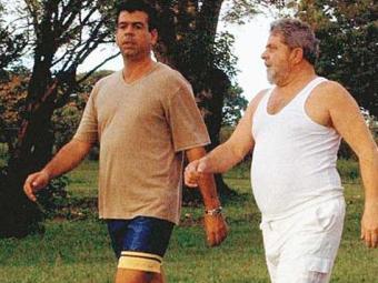 Freud Godoy e Lula na Granja do Torto no fim de 2002 - Foto: Reprodução | Revista Época