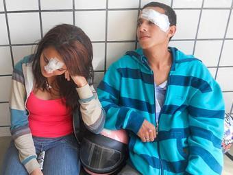 Jovens tiveram ferimentos na cabeça - Foto: Teixeira News | Divulgação