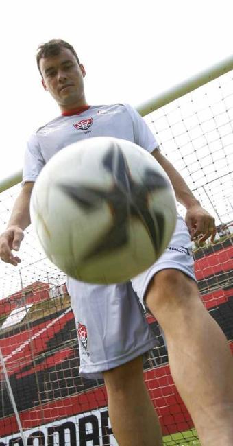 Autor do primeiro gol da Arena, Cajá é também primeiro rubro-negro a fazer gol inaugural em estádios - Foto: Marco Aurélio Martins | Ag. A TARDE