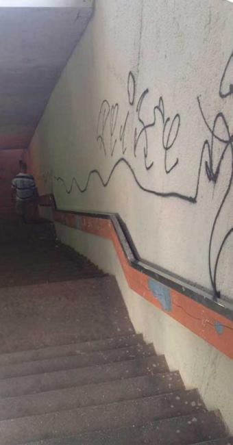 Vândalos pincharam paredes da Lapa - Foto: Divulgação | Transalvador