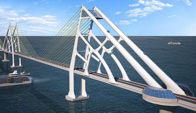Ponte Salvador-Itaparica faz parte do projeto da construção do Sistema Viário Oeste - Foto: Divulgação
