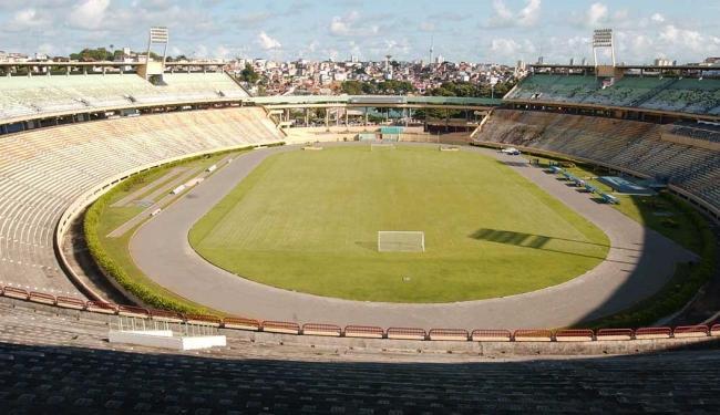 Estádio Otávio Mangabeira, antiga Fonte Nova - Foto: Edmar Melo | Arquivo | Ag. A TARDE