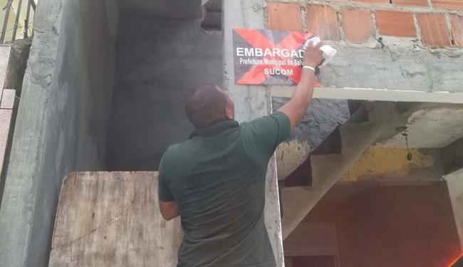 Órgão municipal embargou 69 construções no mês de março - Foto: Sucom   Divulgação