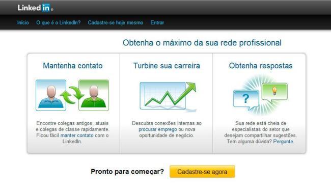 Rede social LinkedIn possui mais de 11 milhões de usuários no Brasil - Foto: Reprodução