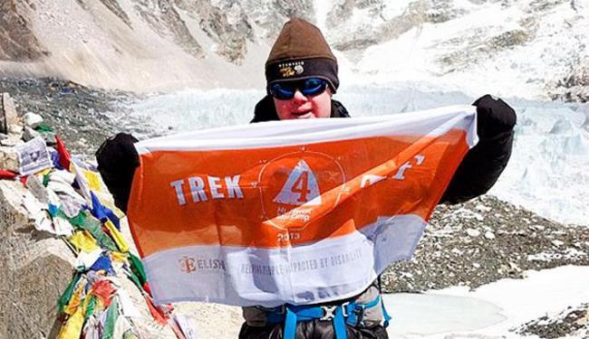 Eli Reimer chegou ao campo de 5.364 metros de altura nas montanhas do Himalaia - Foto: Reprodução